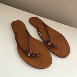 Bottega Veneta Leather Flip Flops